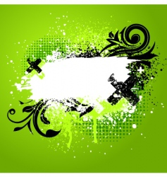 floral paint splatter vector image vector image