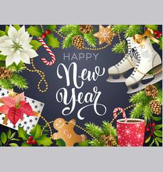 happy new year theme of xmas vector image vector image