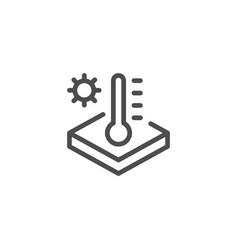 insulation temperature line icon vector image