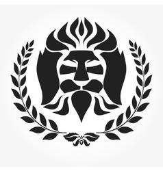 Lion head logotype vector image vector image
