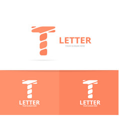 unique letter t logo design template vector image vector image