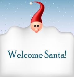Cartoon Santa beard frame vector image vector image