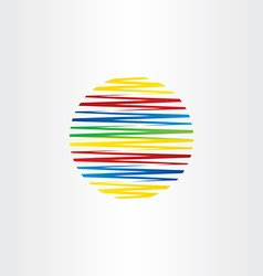 circle colorful line globe abstract background vector image vector image