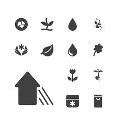 13 eco icons vector