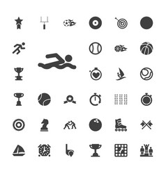 33 competition icons vector