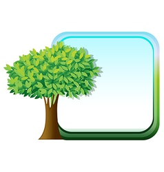 A big green tree beside an empty template vector