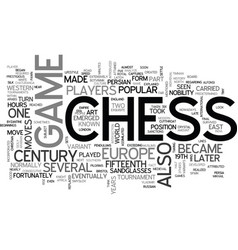 a brief look on the history of chess text word vector image