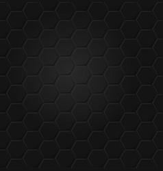 Abstract black hexagon seamless pattern eps vector