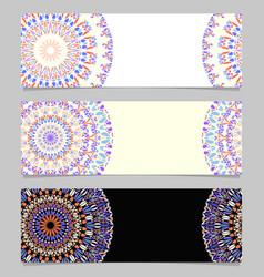 Abstract colorful horizontal floral mandala vector