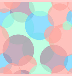 Abstract seamless pattern with colorful circles vector