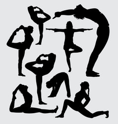 aerobic sport silhouette vector image
