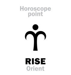 Astrology rise orient vector