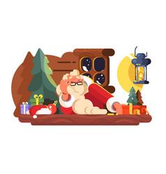 bad santa claus vector image
