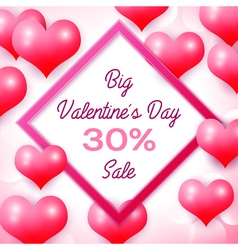 Big Valentines day Sale 30 percent discounts with vector
