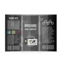 black template brochure business cool design for vector image