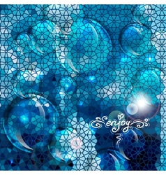 Blue abstract air bubbles background vector image