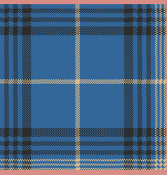 Blue check plaid tartan seamless pattern vector
