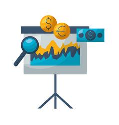board presentation money stock market vector image