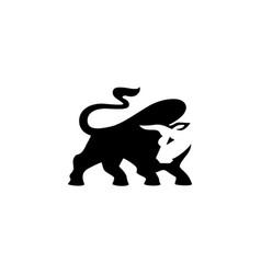 Buffalo logo stock vector