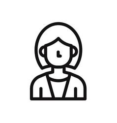 business woman icon avatar symbol female vector image