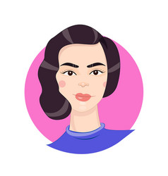 cartoon girl portrait in vector image