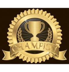 Champion Silk Label vector