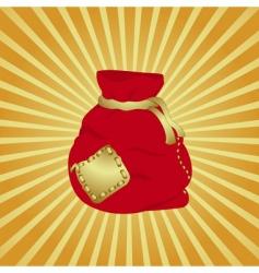 Christmas bag vector