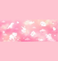 cloud animals realistic fluffy eddies elements vector image