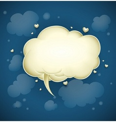 cloud with greeting message vector image
