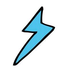 Comic cartoon lightning bolt symbol vector