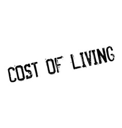 Cost of living rubber stamp vector