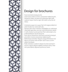 Cover design with seamless pattern vector