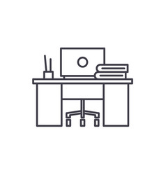 coworking line icon concept coworking vector image