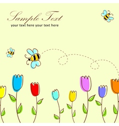 Cute floral postcard vector image vector image