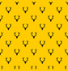 Deer antler pattern vector