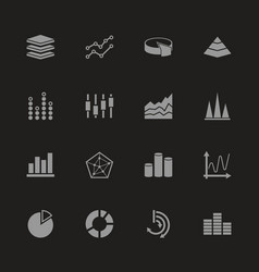 Diagram graphs - flat icons vector