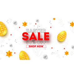 easter sale ad poster with special holiday offer vector image