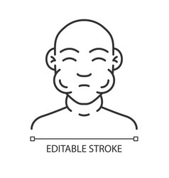 Face swelling linear icon vector
