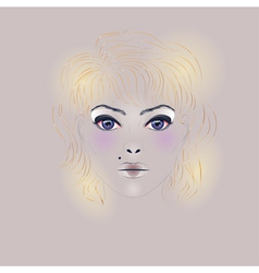 Fashion Girl with Hair vector image