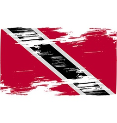 Flag of Trinidad and Tobago with old texture vector image