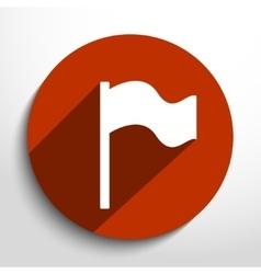 Flag web icon vector