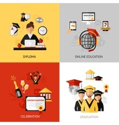 Graduation Design Concept Set vector