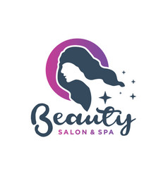 hair salon and beauty logo vector image