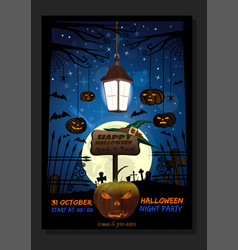 halloween design with jack-o-lantern against the vector image