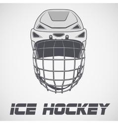 Hockey Helmet sketch vector image