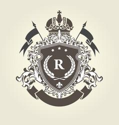Imperial royal coat arms - heraldic blazon vector