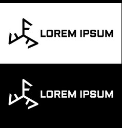 Initial letter triple f triskelion logo template vector