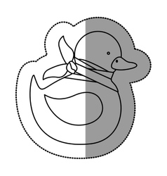 Isolated toy duck damaged design vector image
