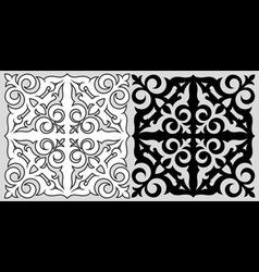 Kazakh ornament vector image