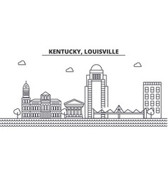 Kentucky louisville architecture line skyline vector